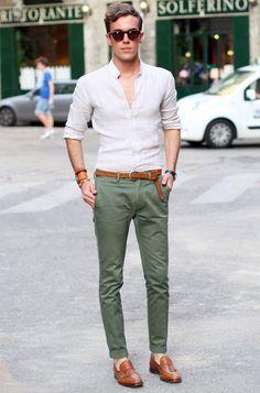 Calça chino masculino