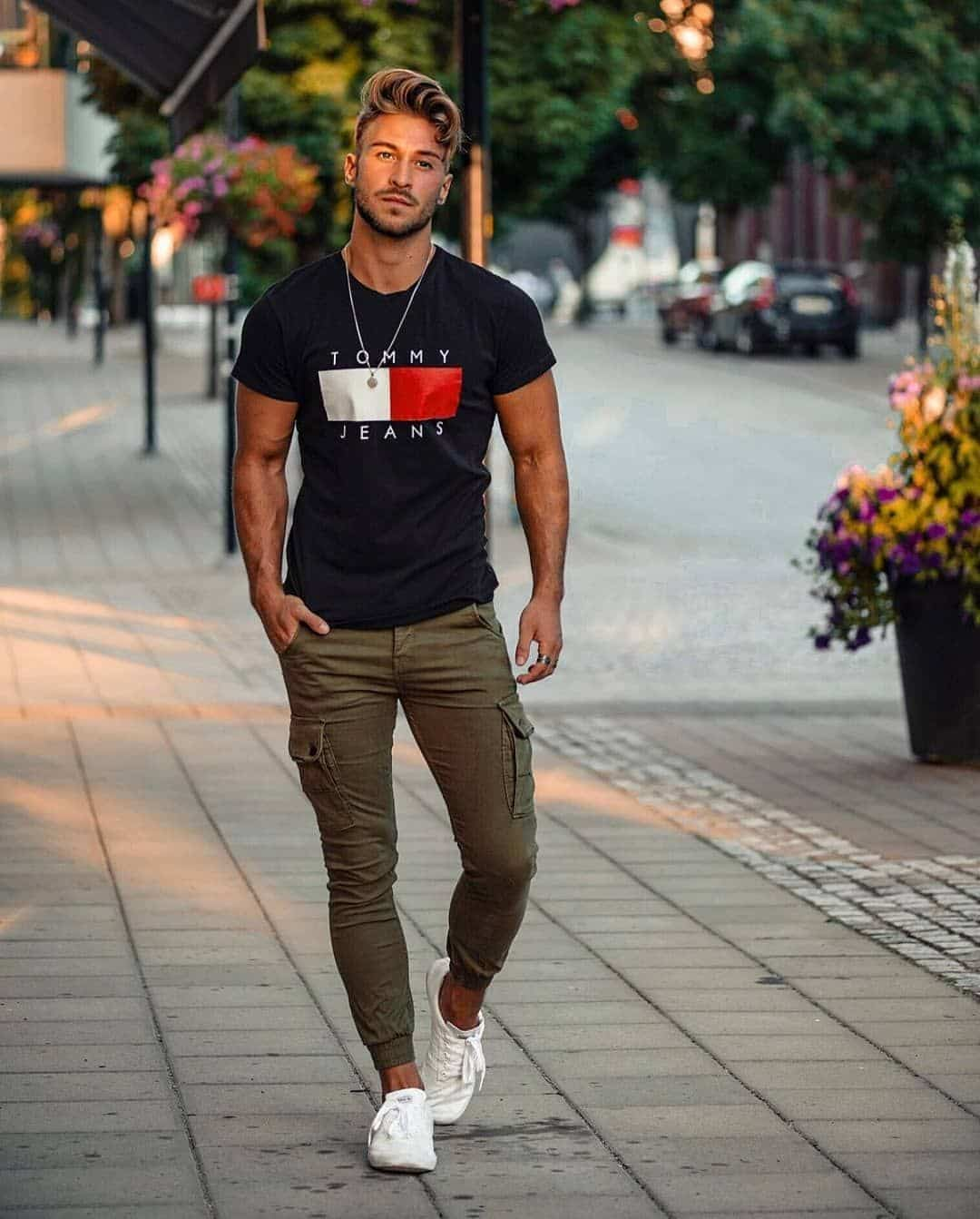 look calça jogger masculina