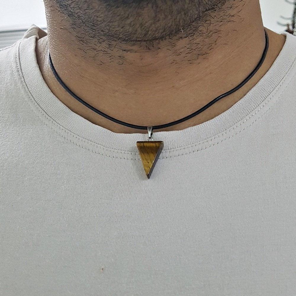 colar de couro masculino