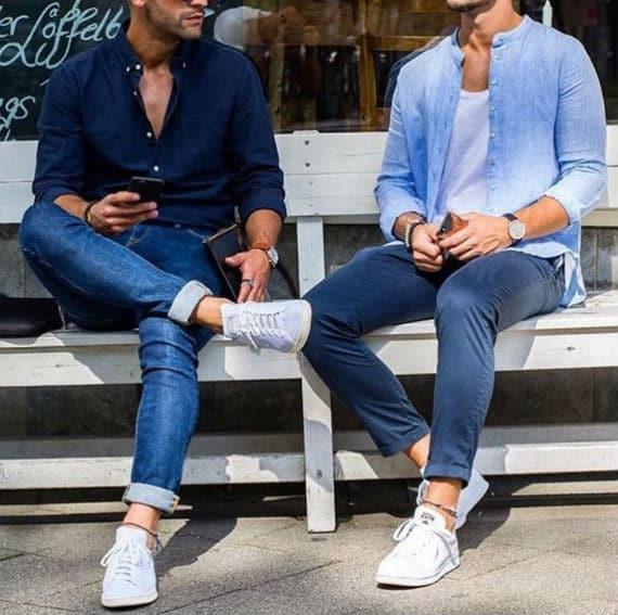 looks masculinos com tênis branco