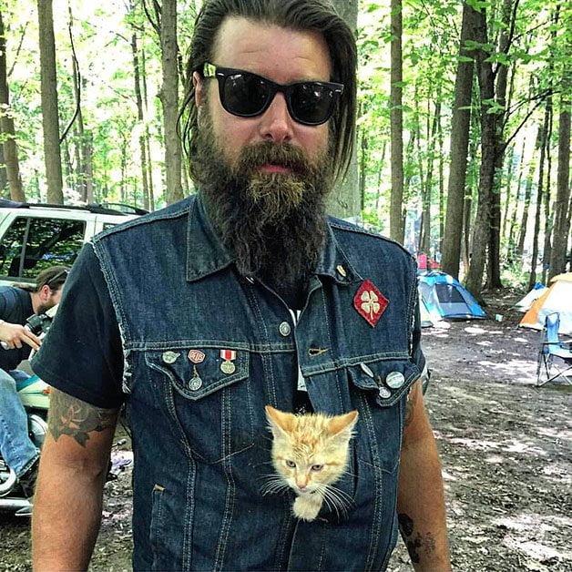 Barba de motociclista