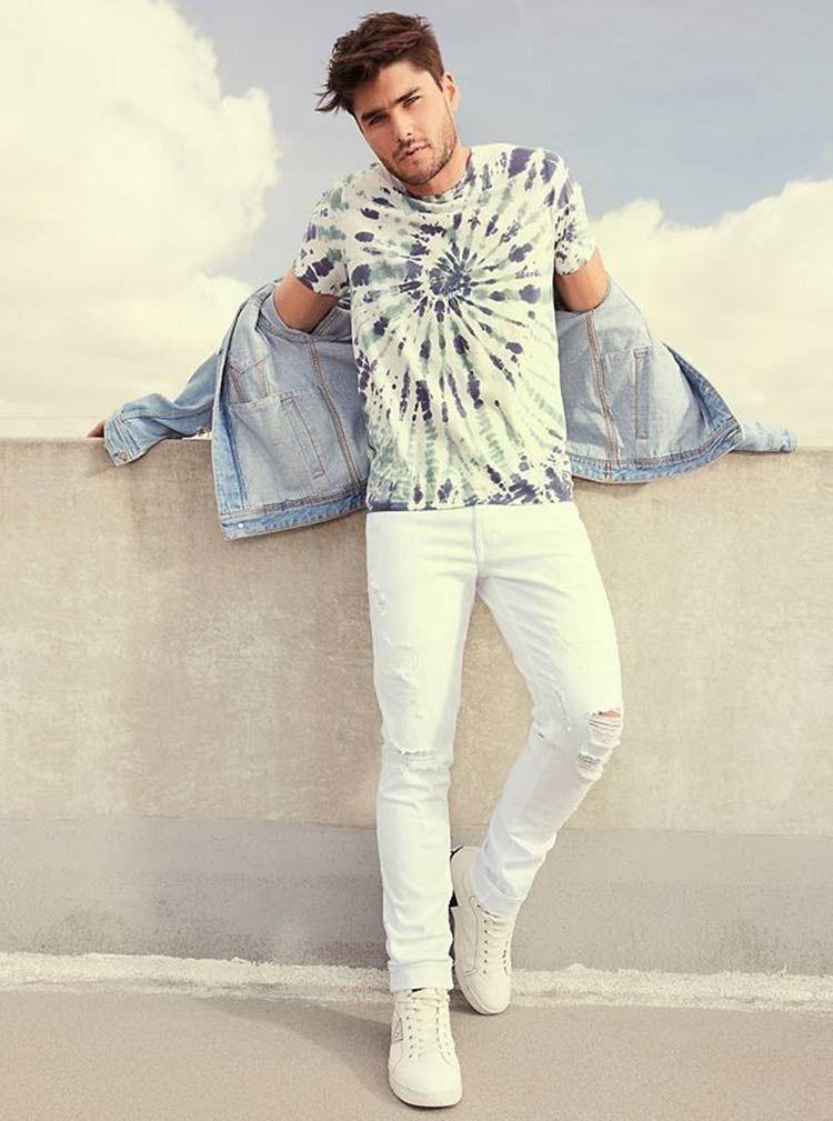 Tie-dye na moda masculina 2021