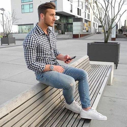 look-masculino-com-camisa-xadrez